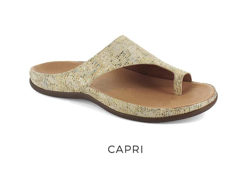 Women's orthotic sandals Capri toe-loop
